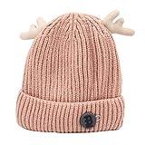 Cappello della Lana dei Bambini di Autunno E di Inverno, Uomini E Donne Bambino Maglia Cappello Gita Cuffie (Colore : Pink)