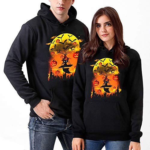 Rosennie Damen 3D Druck Sweatshirts Halloween Ghost Print Pullover mit Cartoon Hoodies Blouse SweatShirt Kapuzenjacke Unisex Couples Langarm...