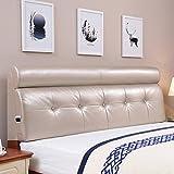 MMM- Bedside Cushion Soft Case Doppelbett Große Rückenlehne Kissen Hotel Bed Head Cover Continental ( Farbe : Champagner , größe : 190*60cm(no Bedside) )
