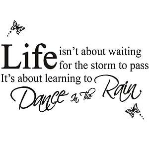 danser sous la pluie stickers muraux slogan décoration murale