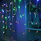 HJ® LED Lichterkette Eisregen mit 200 RGB LEDs 10m Eisregenkette Lichterketten Wasserdicht Strip, für Party Pavillon Hotel Hochzeiten