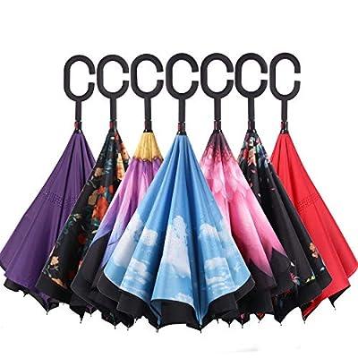 axusndas Umbrella Inverted/Reversible, Windproof Umbrella Double Layer Inside-Out Self-Standing für Damen und Herren mit Aufdruck von axusndas - Gartenmöbel von Du und Dein Garten