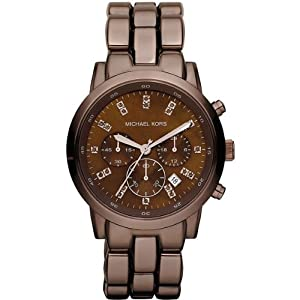 Reloj Micheal Kors MK5607 de cuarzo para mujer con correa de acero inoxidable, color marrón de Michael Kors