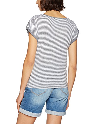 VERO MODA Damen T-Shirt Vmdiana Mix Ss Top Dnm Jrs Mehrfarbig (Light Grey Melange Stripes:Snow White Small)
