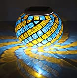 [Solarleuchten] Safebao® Mosaik LED Nachtlicht Magic Sonnenschein Kristall Glaskugel Farbe Wechselndene Schöne Lampen
