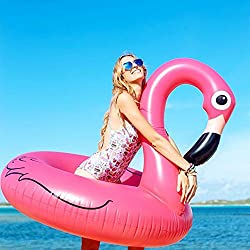 Inflable Flamenco Pool Float 41 '' Giant Beach Lounge Lilos de Wishtime