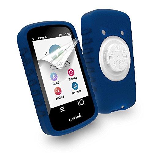 Tuff-Luv Silicone case & screen protection for Garmin Edge 1030 - Blue