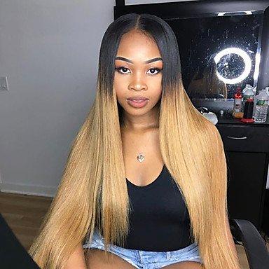 NEU: Ombre 100% Brazilian Virgin Hair Glueless Lace-Perücken T1B/27Full Lace-Echthaar-Perücke Remy Virgin Hair Perücke mit Baby Haar -