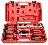 FreeTec16 Pièces grundloch intérieur Extracteur Jeu de Kit extracteur de roulement Roulement sackloch auszieher Outils avec lubrifiant Marteau