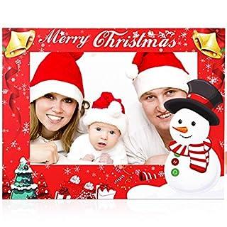 BESTOYARD Weihnachten Fotorahmen Stütze Selfie Foto Requisiten kt Board Bilderrahmen für Kinder Erwachsene Weihnachten Neujahr Partyzubehör