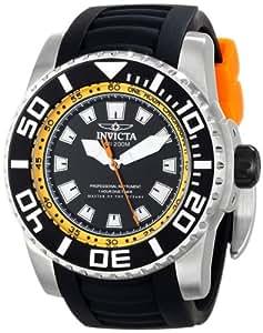 Invicta Pro Diver Homme 52mm Noir Caoutchouc Bracelet Montre 14659