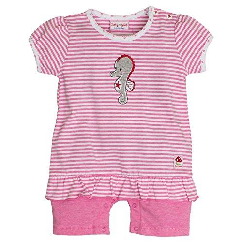 SALT AND PEPPER Baby-Mädchen Strampler BG Playsuit Kurz Stripe, Rosa (Candy Pink Melange 802), 56