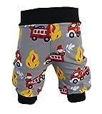 Pumphose,Babyhose,Kinderhose Feuerwehr grau rot von NEJA Design (74/80)