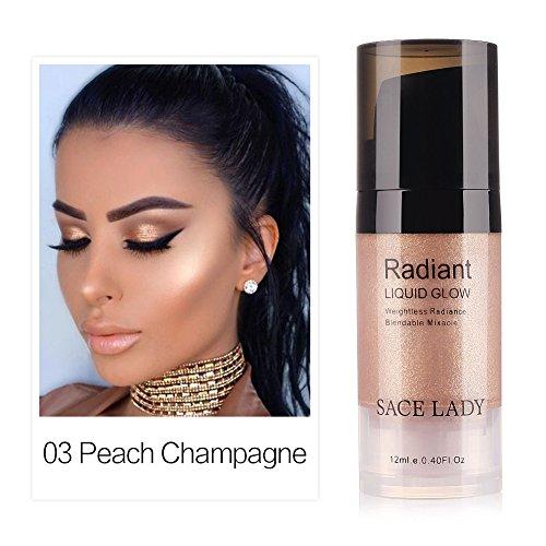 Oshide Makeup Flüssigkeit Highlighter Augen Gesicht Glitzer Brighten Konzentrierte Beleuchter Bronze Drops Make Up Textmarker 12ml (12 Ml Flüssigkeit)