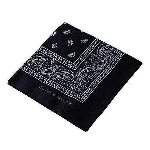 Multifuncional pañuelo para la cabeza diadema velo estampado Retro Headwear máscara para Ciclismo bicicleta Negro negro