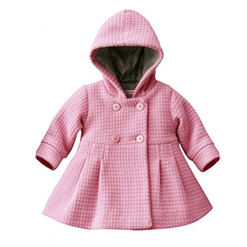 ESHOO Baby Mädchen Kinder Warme Button Kapuzenmantel Oberbekleidung Jacke Parka Top