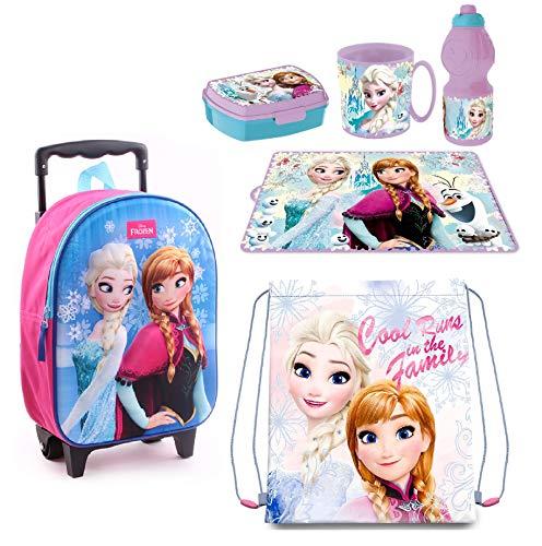 Frozen principesse zainetto zaino trolley in 3d, sacca sport, set colazione merenda scuola materna asilo escursioni tempo libero