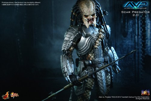 "[Movie Masterpiece] ""AVP"" 1/6 scale figure Scar Predator (Version 2.0) (japan import) 5"
