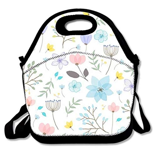 Insulated Lunch Bag Palm Leaf Print lunchbox Waterproof Cooler warm Bags Reusable Tote Box (Leaf Palm Cross)