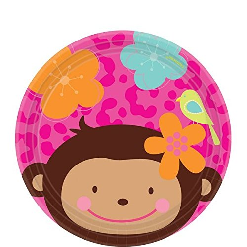 amscan-7-inch-international-monkey-love-paper-plates
