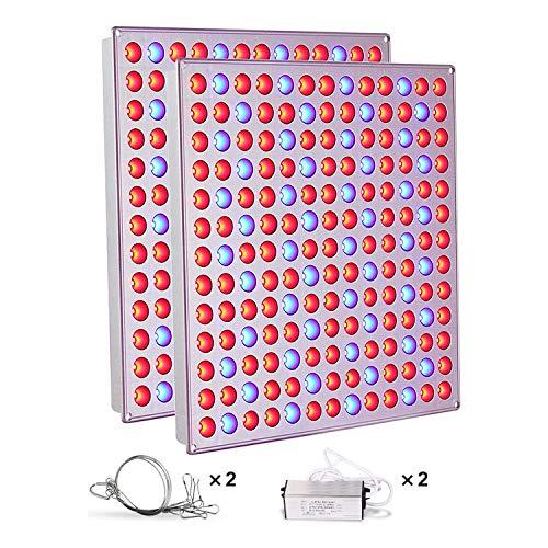 LED Pflanzenlampe,Roleadro 2 Stück Pflanzenlicht mit Rot Blau Licht 75W Led Grow Lampe fur Frucht Wachstum Blumen Obst Gemüse Pflanzen Wachstumslampe