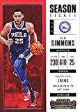 Best Basketball Cards - 2017-18 Panini Contenders Season Ticket #25 Ben Simmons Review