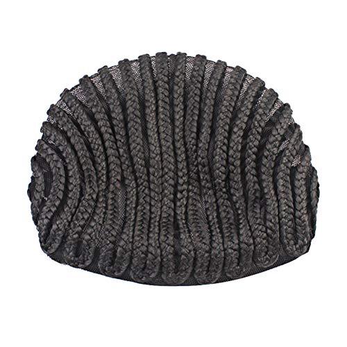BESPORTBLE 2 stücke Einfacher Nähen Schwarz Cornrow Zöpfe Häkeln Perücke Kappen Elastische Nähen Dome Net Perücke Kappen für Die Herstellung Von Flechten Perücken (Schwarz) -