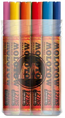Molotow Acryl Marker One4All 127HS (Main-Kit 1 mit 20 kräftigen Acrylfarben, 2mm Spitze,...