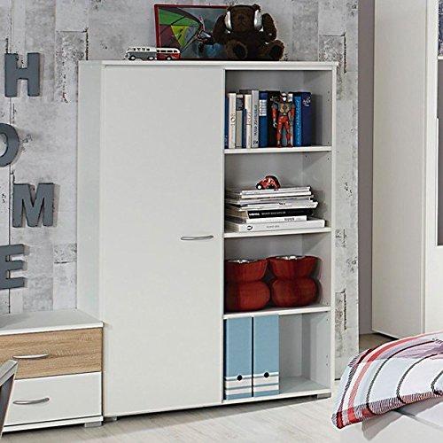 Preisvergleich Produktbild Kommode weiß Anrichte Schrank Sideboard Schubladenkommode Aufbewahrung Kinderzimmer Jugendzimmer Kinderzimmerkommode