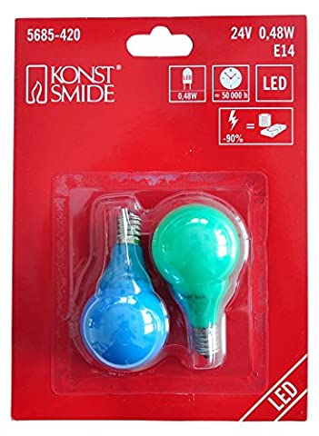 Konstsmide 5685-420 Ampoule Acrylique 2G7 Multicolore 25 W