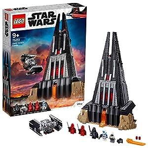 LEGO 75251 Star Wars Castillo de Darth Vader, Juguete de construcción con 5 Figuritas, Castillo y Nave Espacial Caza Tie 25
