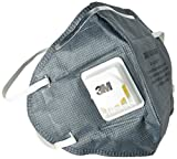#10: 3M CL-900401_2 Anti-pollution Mask and Respirator, Grey, Pack of 2