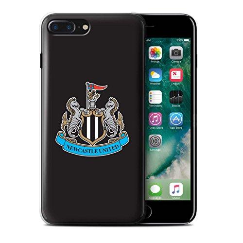Offiziell Newcastle United FC Hülle / Case für Apple iPhone 6+/Plus 5.5 / Mono/Weiß Muster / NUFC Fußball Crest Kollektion Farbe/Schwarz