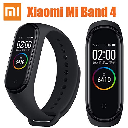 für Xiaomi Mi Band 4 Smartwatch Fitness-Tracker Herzfrequenz-Monitor Aktivitätstracker Uhr Wasserdicht Smart Armband AMOLED Display Wettervorhersage Armband Schrittzähler Kalorien Schlaf Monitor (Der Ruhe-herzfrequenz-monitor)