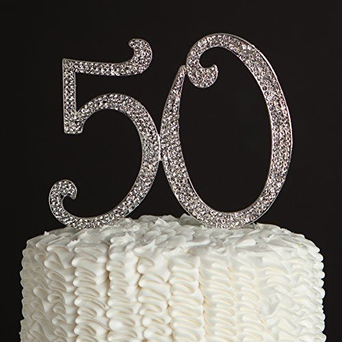 der Nummer 50 in silber Farbe für den 50 zigsten Geburtstag oder als Dekoration für eines Jahrestag wie der silber Hochzeit (50 Wedding Anniversary Dekorationen)