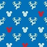 Tapete Kids@Home 3 Kinder Tapeten 71899 Mickey Maus Fußball blau