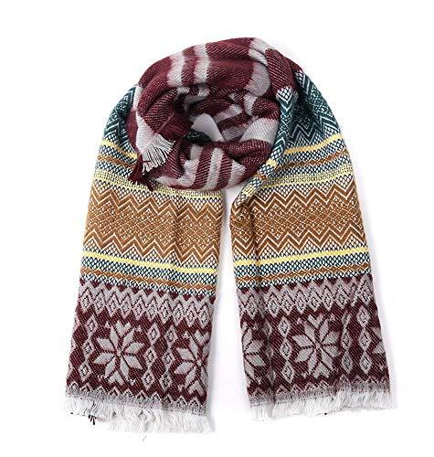 Lnyy Schal-Frühling und Winter Mode Jacquard-Strick Kaschmir weichen Schal Größe (cm): 220 * 60
