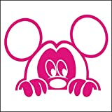 3082__M Autoaufkleber Funny mouse great gift sticker - car, window, door decal ( Magenta)