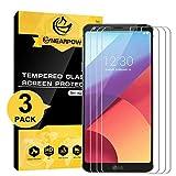 [Lot de 3] LG G6 protection d'écran, Compatible avec LG G6 Plus, Nearpow Protection d'écran en verre trempé avec [9H Dureté] [Crystal Clear] [sans bulles Installation] [Résister aux rayures]