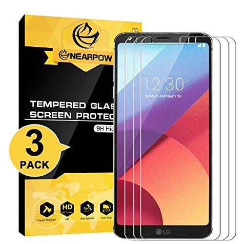 [Lot de 3] LG G6 Protection d'Écran Compatible avec LG G6 Plus Nearpow Protection d'Écran en Verre Trempé avec 9H Dureté Crystal Clear Sans Bulles Installation Résister aux Rayures