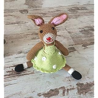 Häkel Puppe Hase mit Kleidchen
