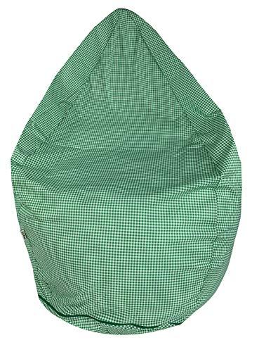 Joyfill Sitzsack mit Bezug, Stuhl für Kinder und Erwachsene, Weicher Stoff, 240L groß - 912 Vichy grün