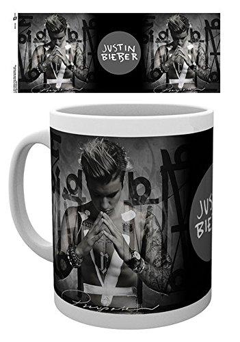 empireposter - Bieber, Justin - Purpose  - Größe (cm), ca. Ø8,5 H9,5 - Lizenz Tassen, NEU - Beschreibung: - Keramik Tasse, weiß, bedruckt, Fassungsvermögen 320 ml, offiziell lizenziert, spülmaschinen- und mikrowellenfest -