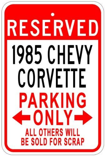 Aersing Dekoschild 1985 85 85 Corvette Parkschild Neuheit Home Door Wall Decor Blechschild - Corvette 85