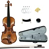 Kinglos YWA1005 4/4 Full Size Handcrafted Solid Wood Student Acoustic Violin Fiddle Starter