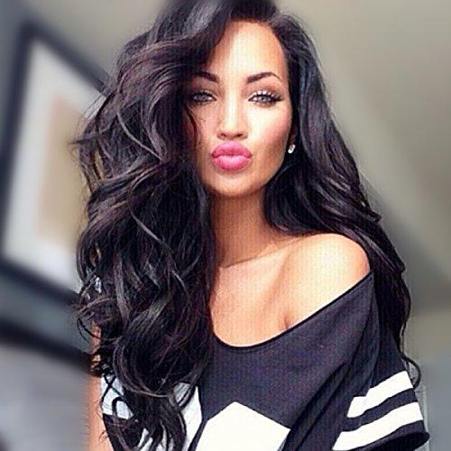 auspiciouswig Big Gelockt Echthaar Lace Front Perücken Virgin Remy brasilianisches Echthaar Full Lace Perücken für Frauen -