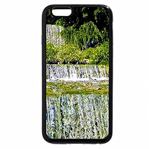 iPhone 6S Case, iPhone 6 Case (Black & White) - 3 Tier Waterfall