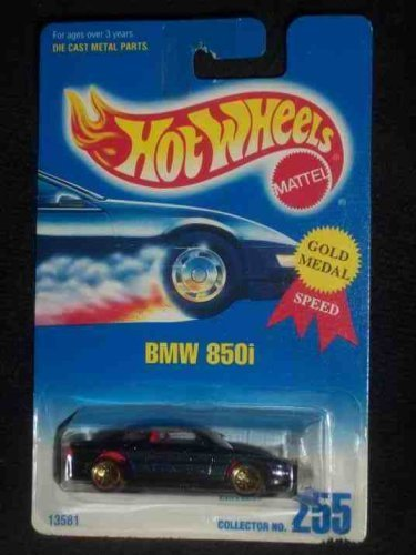 255-bmw-850i-metal-flake-dark-blue-lace-gold-wheels-collectible-collector-car-mattel-hot-wheels-by-h