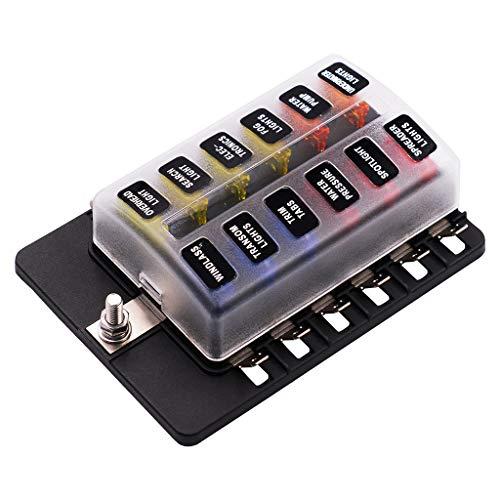 Barlingrock1 Eingang und 12 Ausgangssicherungsbox mit LED-Anzeige PC-Klemmenblock 16 Output Fuse