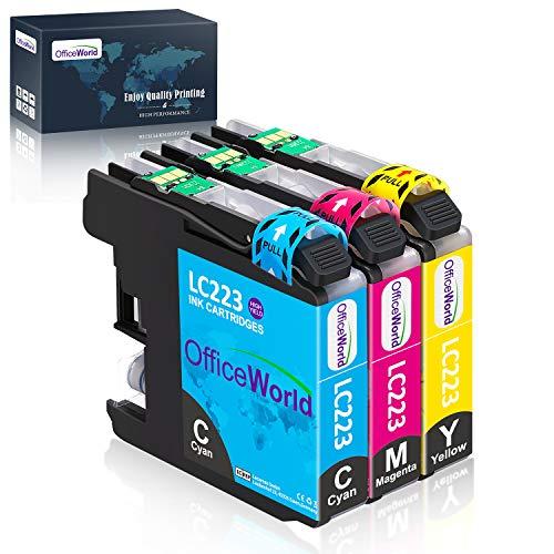 OfficeWorld Ersatz für Brother LC223 Farbpatronen Kompatibel für Brother MFC-J5320DW DCP-J4120DW MFC-J480DW MFC-J5720DW MFC-J5625DW MFC-J4620DW MFC-J4420DW MFC-J880DW MFC-J4625DW DCP-J562DW
